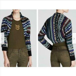 Free People Fair Isle Nordic Carnival Bolero Shrug
